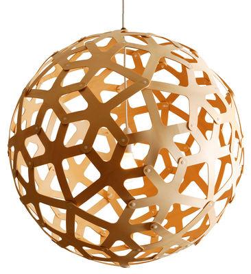 Leuchten - Pendelleuchten - Coral Pendelleuchte Ø 80 cm - David Trubridge - Holz natur - Ø 80 cm - Kiefernfurnier
