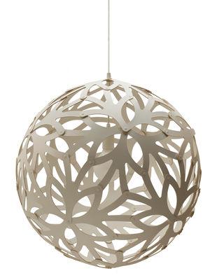 Leuchten - Pendelleuchten - Floral Pendelleuchte Ø 40 cm - Weiß - Exklusiv - David Trubridge - Weiß - Kiefer