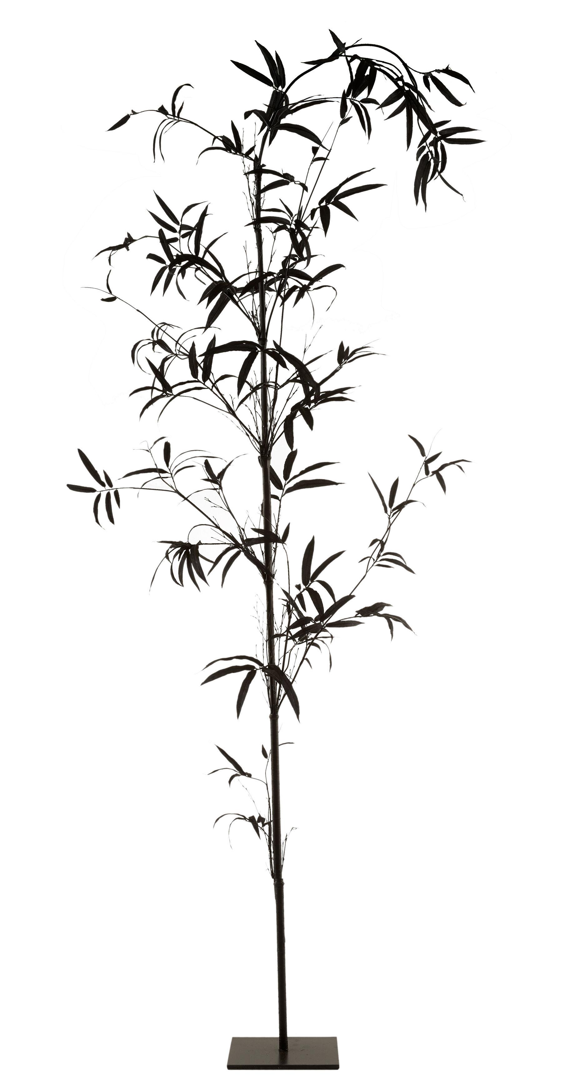 Interni - Vasi e Piante - Pianta in tessuto Bambou - / Ø 80 x H 270 cm di Pols Potten - Bambou / Noir - Ferro, Materiale plastico, Poliestere