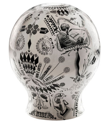 Decoration - Children's Home Accessories - The money box Piggy bank - Ceramic by Seletti - White - Black silk-screen print - China