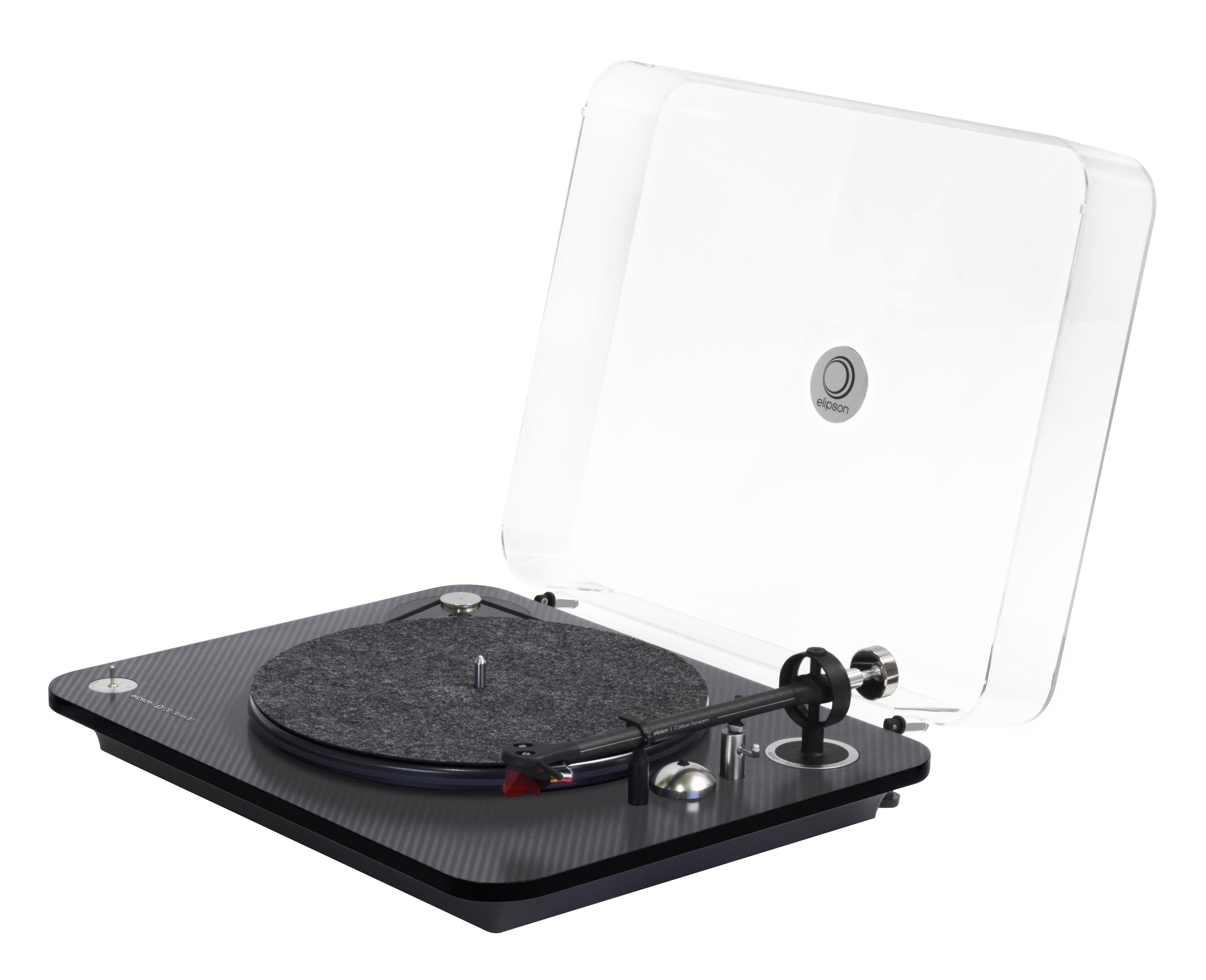 Dossiers - Art de vivre 2018 - Platine vinyle Omega Carbone 100 RIAA BT / Bluetooth & USB - Pré-amplifiée - Elipson - Carbone noir - Fibre de carbone, PMMA