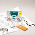 Poster da colorare Coloriage Pocket - Animaux - / 52 x 38 cm di OMY Design & Play