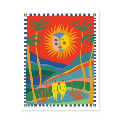 Decoration - Wallpaper & Wall Stickers - The Sun Will Make You Smile By Dona Park Poster - / 46 x 61 cm by Slowdown Studio - The Sun Will Make You Smile - FSC certified paper