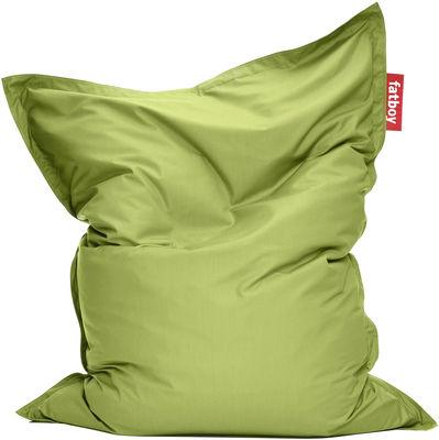 Pouf The Original Outdoor / Pour l'extérieur - Fatboy Larg 140 cm x H 180 cm citron vert en tissu