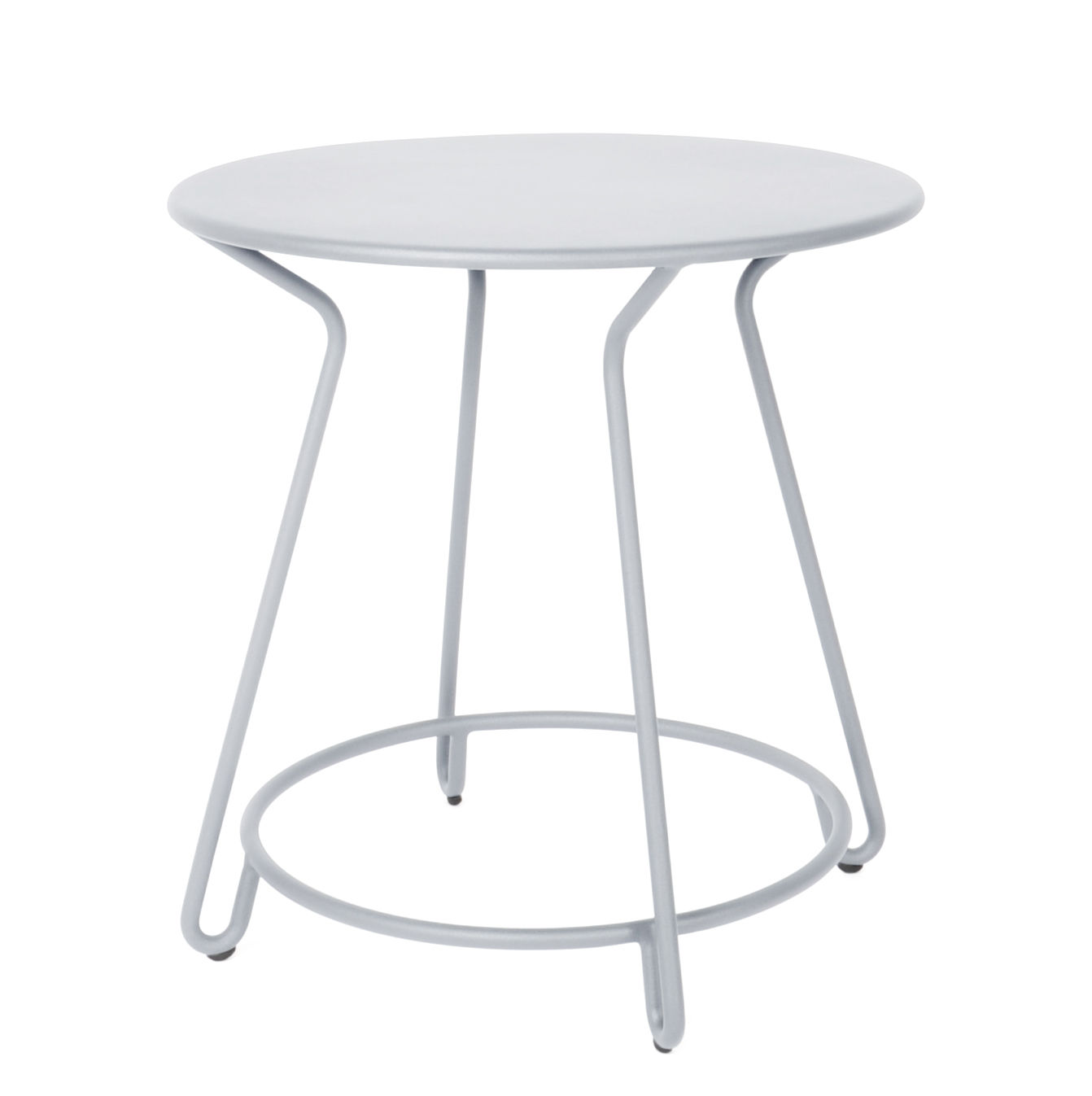 Outdoor - Garden Tables - Huggy Round table - Ø 75 cm / Aluminium by Maiori - Frosty grey - Lacquered aluminium