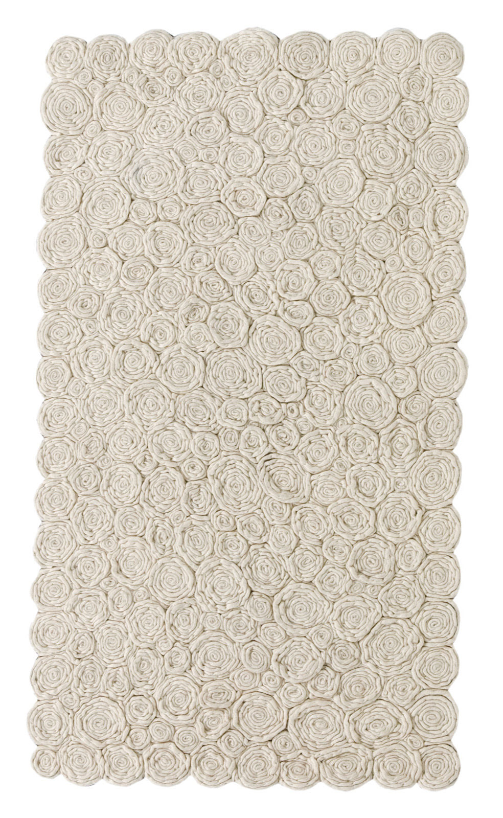 Furniture - Carpets - Spiral Rug - 80 x 140 cm by Nanimarquina - Ivory / 80 x 140 cm - Wool