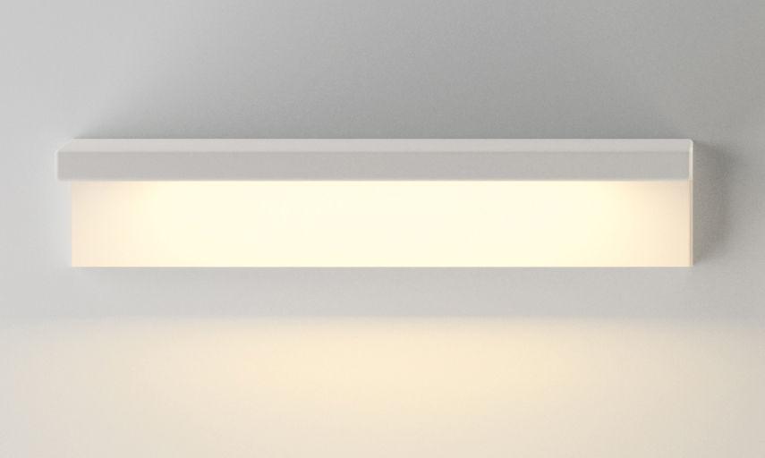 Arredamento - Scaffali e librerie - Scaffale luminoso Suite - /  L 32 cm / Collegamento a parete di Vibia - Bianco - metallo laccato, policarbonato