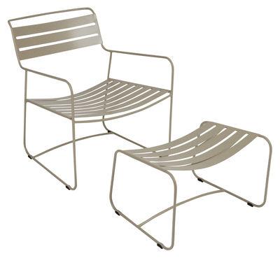 Set fauteuil & repose-pieds Surprising Lounger - Fermob muscade en métal