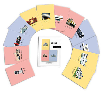 Set Le Duo - Architecture / 12 cartes postales - Image Republic multicolore en papier