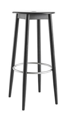 Arredamento - Sgabelli da bar  - Sgabello da bar Oto / H 75 cm - Legno - Ondarreta - Nero - Faggio tinto