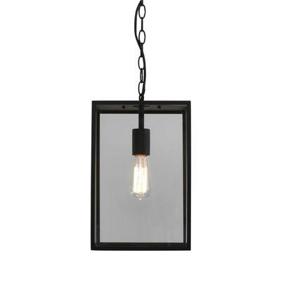 Illuminazione - Lampadari - Sospensione Homefield - / Vetro di Astro Lighting - Nero & trasparente - Acciaio inossidabile, Vetro