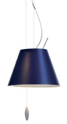 Suspension Costanzina Ø 26 cm - Luceplan bleu en matière plastique