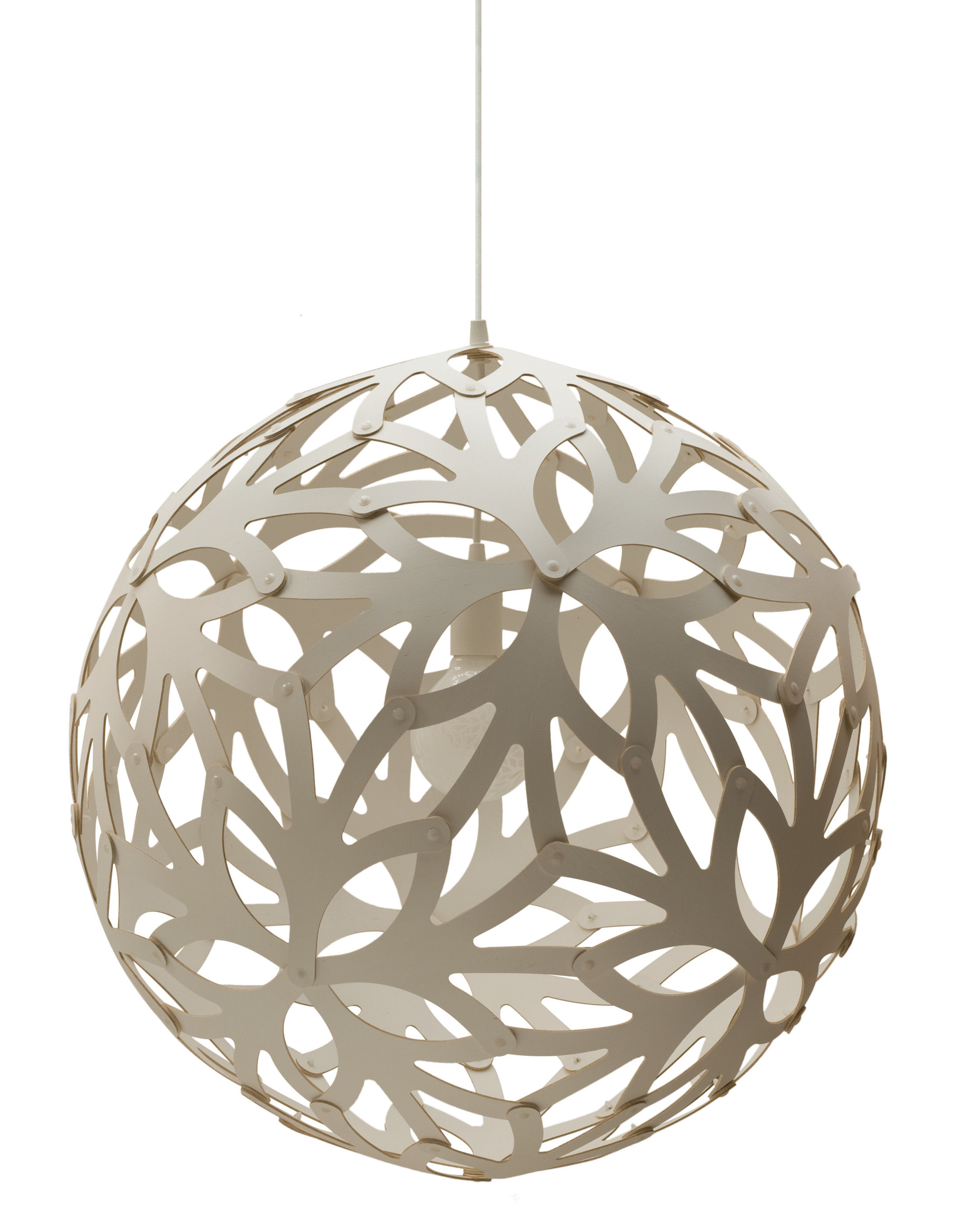 Luminaire - Suspensions - Suspension Floral / Ø 40 cm - Blanc - David Trubridge - Blanc - Pin