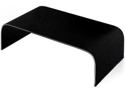 Table basse Curvi 1 L 130 cm - Glas Italia noir laqué en verre