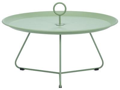 Table basse Eyelet Large / Ø 70 x H 35 cm - Houe vert-gris en métal
