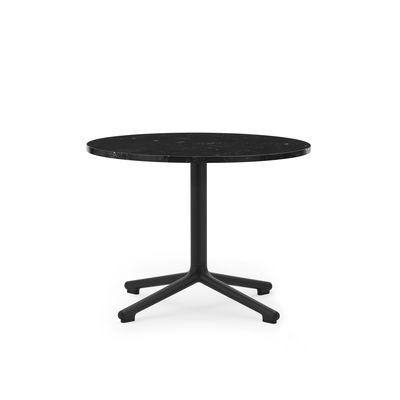 Table basse Lunar / Ø 60 x H 45 cm - Marbre noir - Normann Copenhagen noir en pierre
