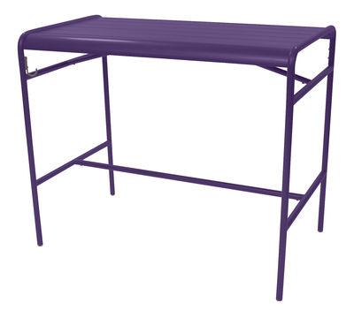 Table haute Luxembourg / 4 personnes - 126 x 73 cm - Aluminium - Fermob aubergine en métal