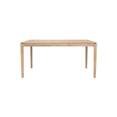 Table rectangulaire Bok / Chêne massif - 160 x 80 cm / 6 personnes - Ethnicraft bois naturel en bois