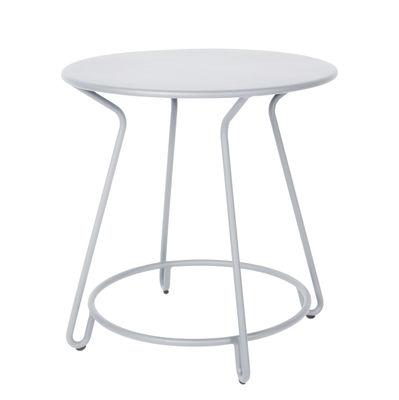 Outdoor - Tables de jardin - Table ronde Huggy / Ø 75 cm - Aluminium - Maiori - Gris frosty - Aluminium laqué époxy