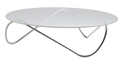 Arredamento - Tavolini  - Tavolino Kaeko di Objekto - Struttura in inox - Acier inoxydable poli recyclé, Vetro temprato