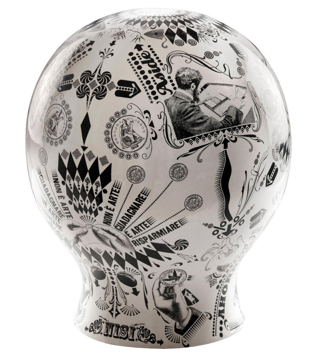 Déco - Pour les enfants - Tirelire The money box en porcelaine - Seletti - Blanc & noir - Porcelaine