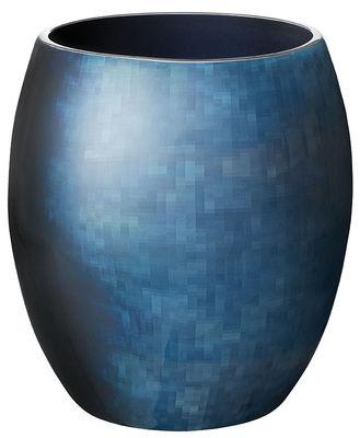 Decoration - Vases - Stockholm Horizon Vase - Small - H 18 cm by Stelton - H 18 cm / Blue - Aluminium, Cold enamel