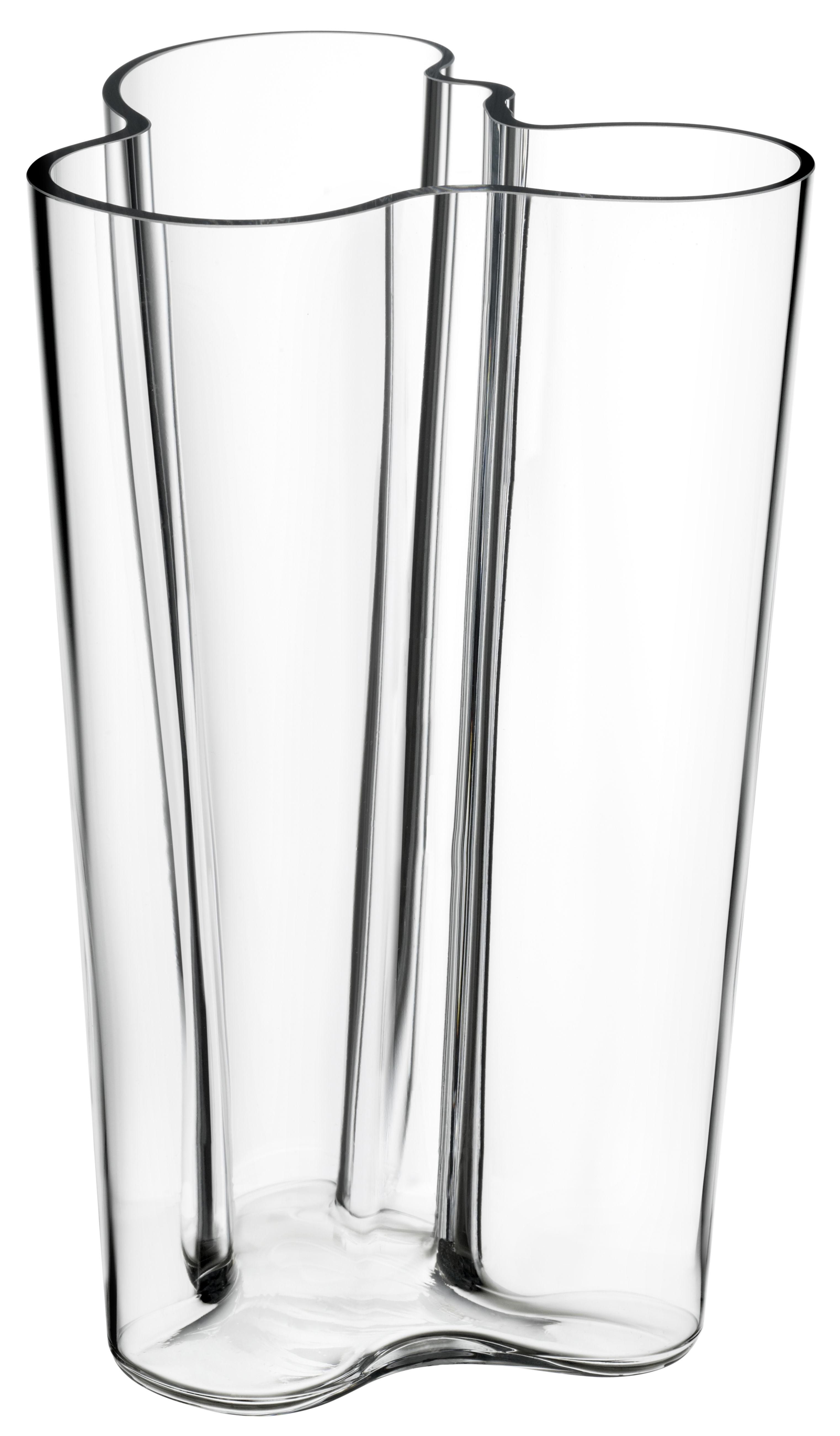 Interni - Vasi - Vaso Aalto di Iittala - Trasparente - Vetro soffiato a bocca