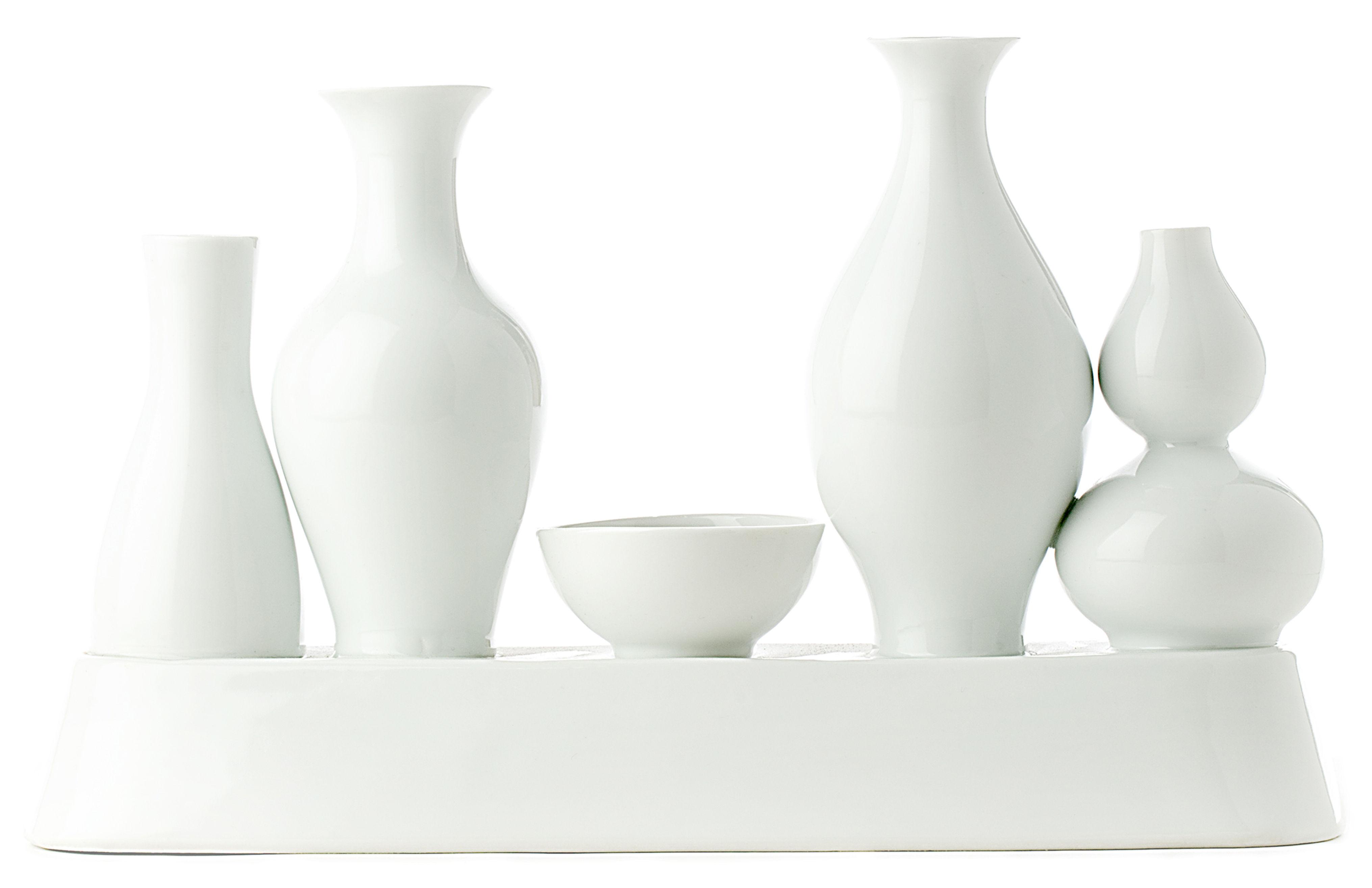 Interni - Vasi - Vaso Shanghai di Pols Potten - Bianco - Porcellana verniciata