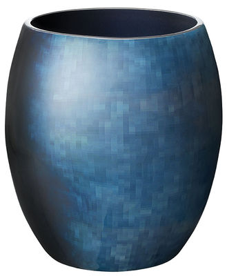 Interni - Vasi - Vaso Stockholm Horizon Small / H 18 cm - Stelton - H 18 cm / Blu - Alluminio, Smalto a freddo