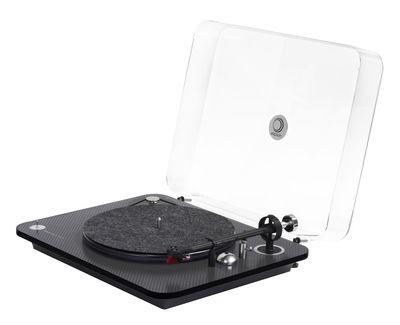 aktion - Neue Kollektion 2017 - Omega Carbone 100 RIAA BT Vinyl-Schallplatte / Bluetooth und USB-Anschluss - mit Vorverstärker - Elipson - Anthrazit/schwarz - Karbonfaser, PMMA