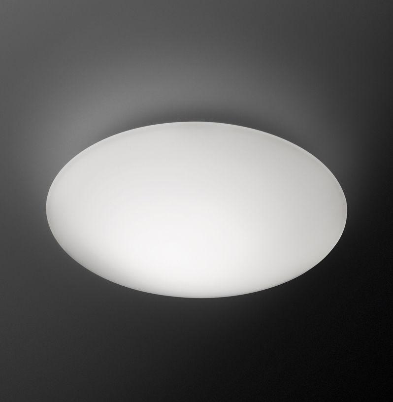 Luminaire - Appliques - Applique Puck Ø 16 cm / Plafonnier - Vibia - Ø 16 cm / Blanc - Verre soufflé