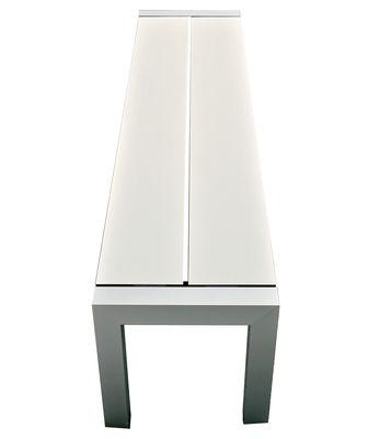 Mobilier - Bancs - Banc Sushi / L 162 cm - Kristalia - Blanc / Pieds aluminium anodisé - Aluminium anodisé, Thermo-stratifié  Fenix-NTM®