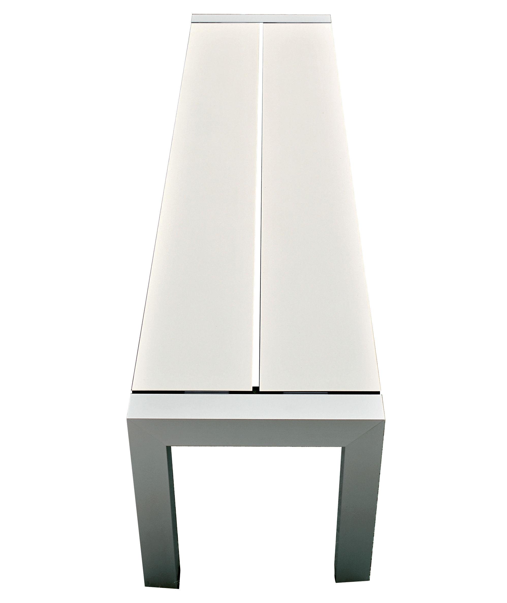 Furniture - Benches - Sushi Bench - L 162 cm by Kristalia - White / Anodized alu - Anodized aluminium, Fenix-NTM® thermo-laminate