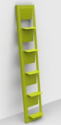 Bibliothèque Pampero / à poser - H 185 cm - Matière Grise vert anis en métal