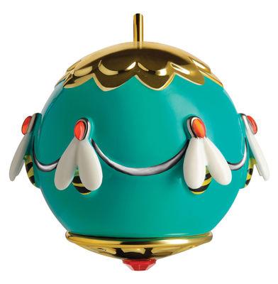 Boule de Noël Fleurs de Jorì / Abeilles - Porcelaine peinte main - Alessi multicolore en céramique