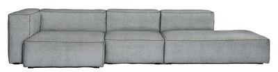 Canapé d'angle Soft Mags / L 314 cm - Accoudoir gauche - Hay gris clair en tissu