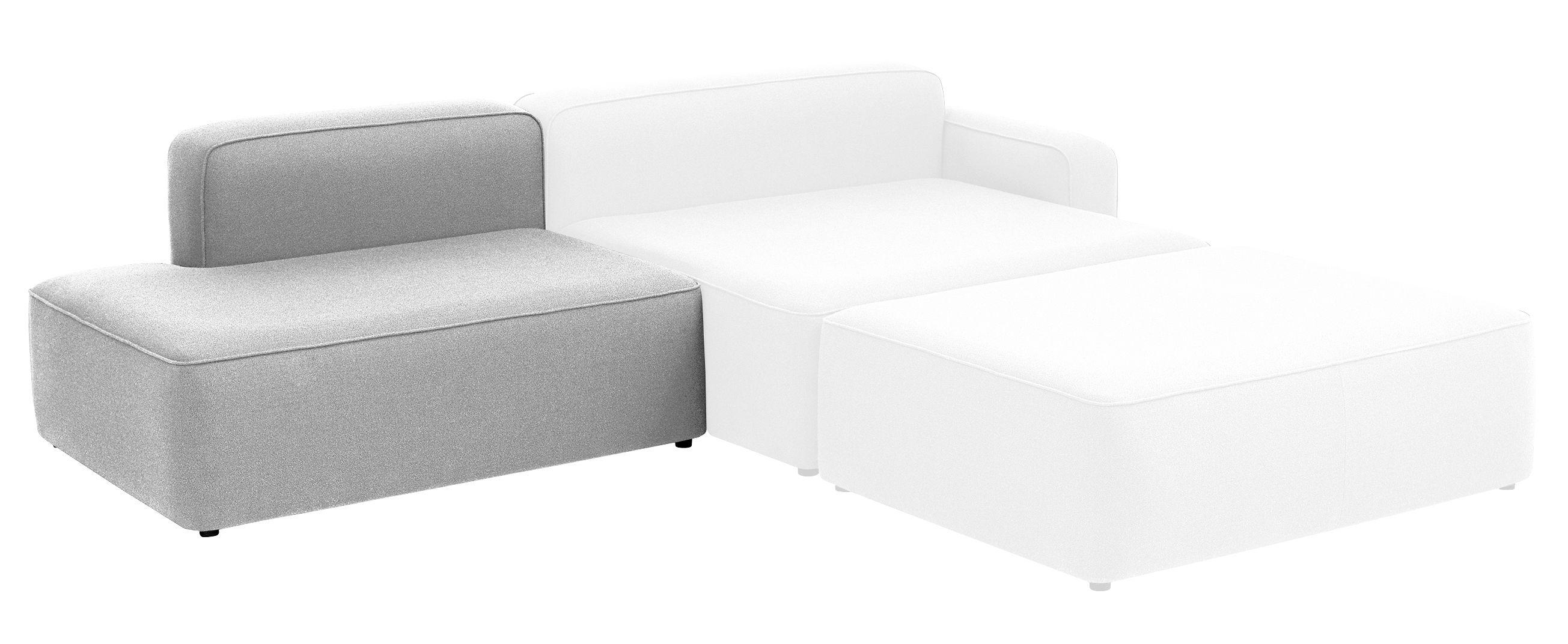 canap modulable rope module gauche sans accoudoir l 120 cm gris clair normann copenhagen. Black Bedroom Furniture Sets. Home Design Ideas