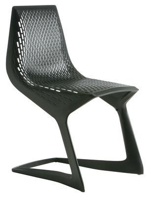Mobilier - Chaises, fauteuils de salle à manger - Chaise empilable Myto / Plastique - Plank - Noir - Matière plastique