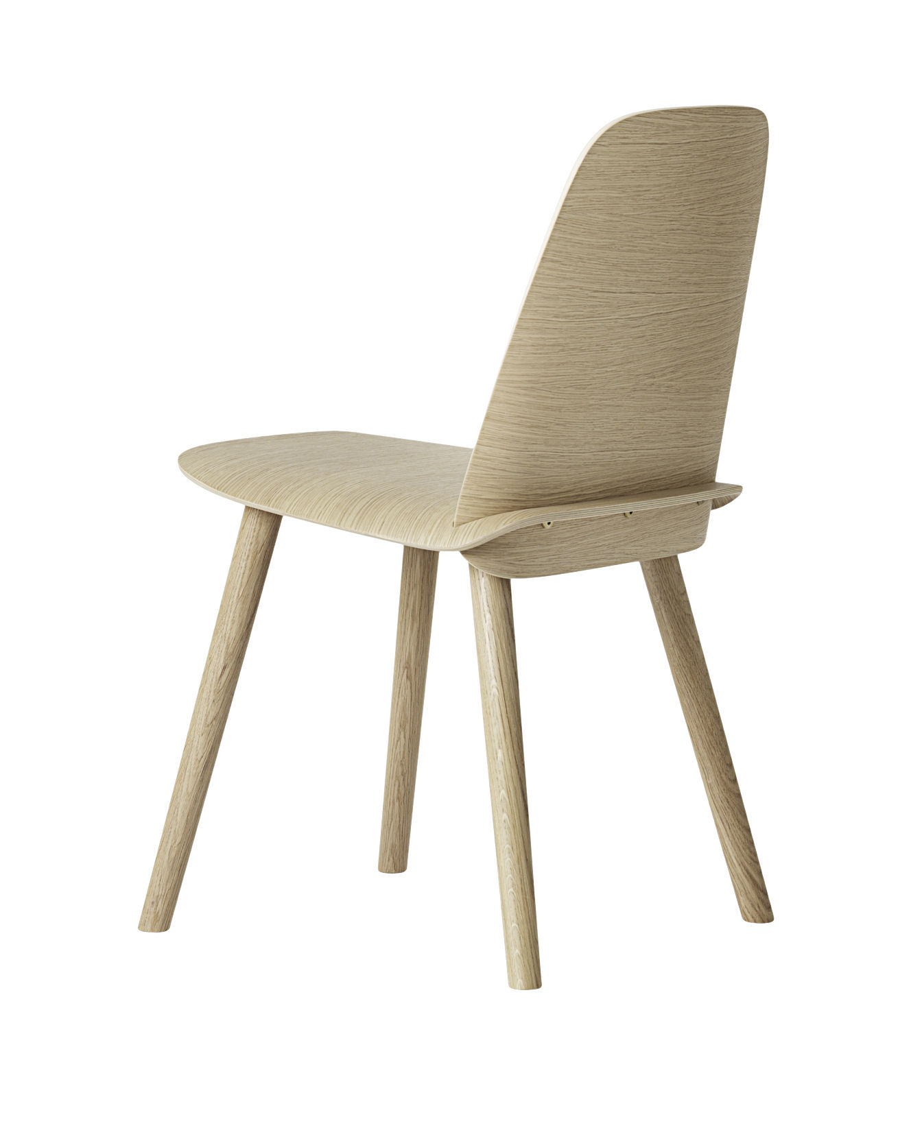 chaise nerd bois blanc muuto made in design. Black Bedroom Furniture Sets. Home Design Ideas