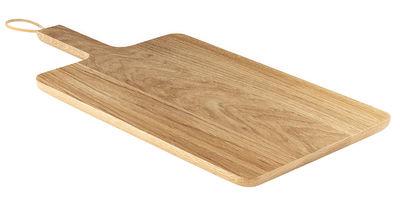 Kitchenware - Kitchen Equipment - Nordic Kitchen Chopping board - Oak - 26 x 38 cm by Eva Solo - Oak / 26 x 38 cm - Leather, Oak