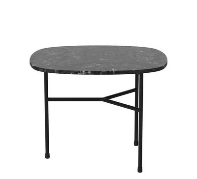 Furniture - Coffee Tables - Pod Coffee table - / Small - 53 x 42 cm by Bolia - Black - Marble, Varnished steel