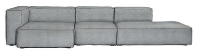 Furniture - Sofas - Soft Mags Corner sofa - / L 314 cm - Left armrest by Hay - Light Grey / Hallingdal fabric - Goose feathers, Hallingdal fabric, Particle board, Super soft foam