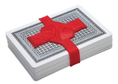 Image of Elastico Hold'em - / Per carte da gioco di Pa Design - Rosso - Materiale plastico