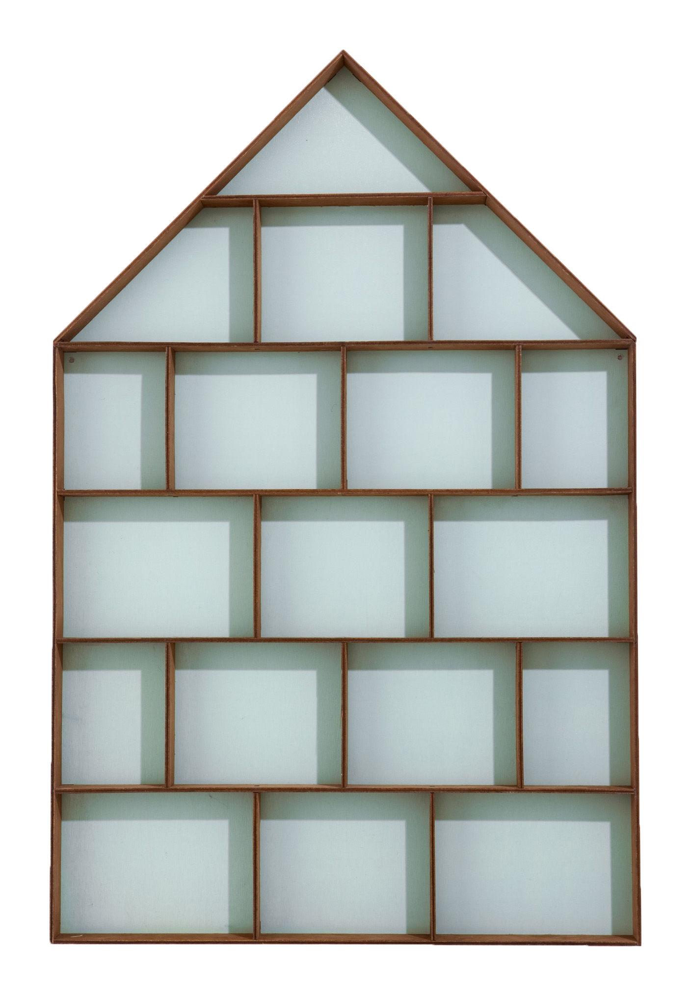Mobilier - Compléments d'ameublement - Etagère Dorm vitrine - Ferm Living - 18 chambres - Bois / Fond bleu ciel - Contreplaqué