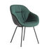 Fauteuil rembourré About a chair AAC127 Soft Duo / Dossier haut - Cuir & tissu matelassé - Pieds métal - Hay