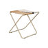 Desert folding stool - / Recycled plastic bottles - Beige structure by Ferm Living