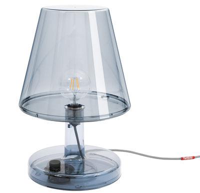 Lampe de table Trans-parents / Ø 32 x H 50 cm - Fatboy gris en matière plastique