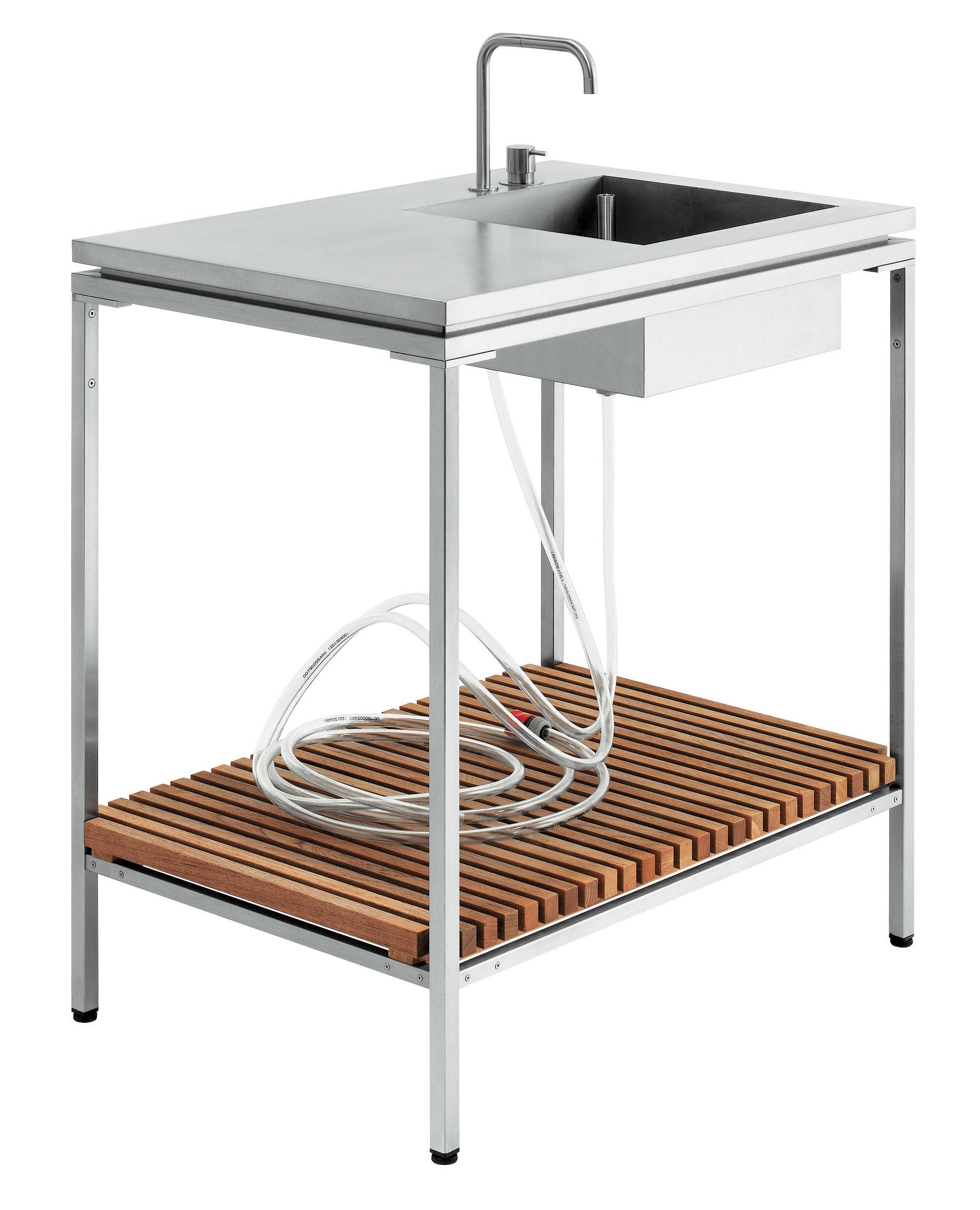 Lavandino - Per cucina da esterno Teck by Viteo | Made In Design