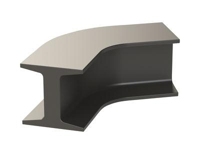 Arredamento - Mobili per bambini - Panchina Iron - / Incurvata - L 121 cm di Slide - Grigio elefante - polietilene riciclabile