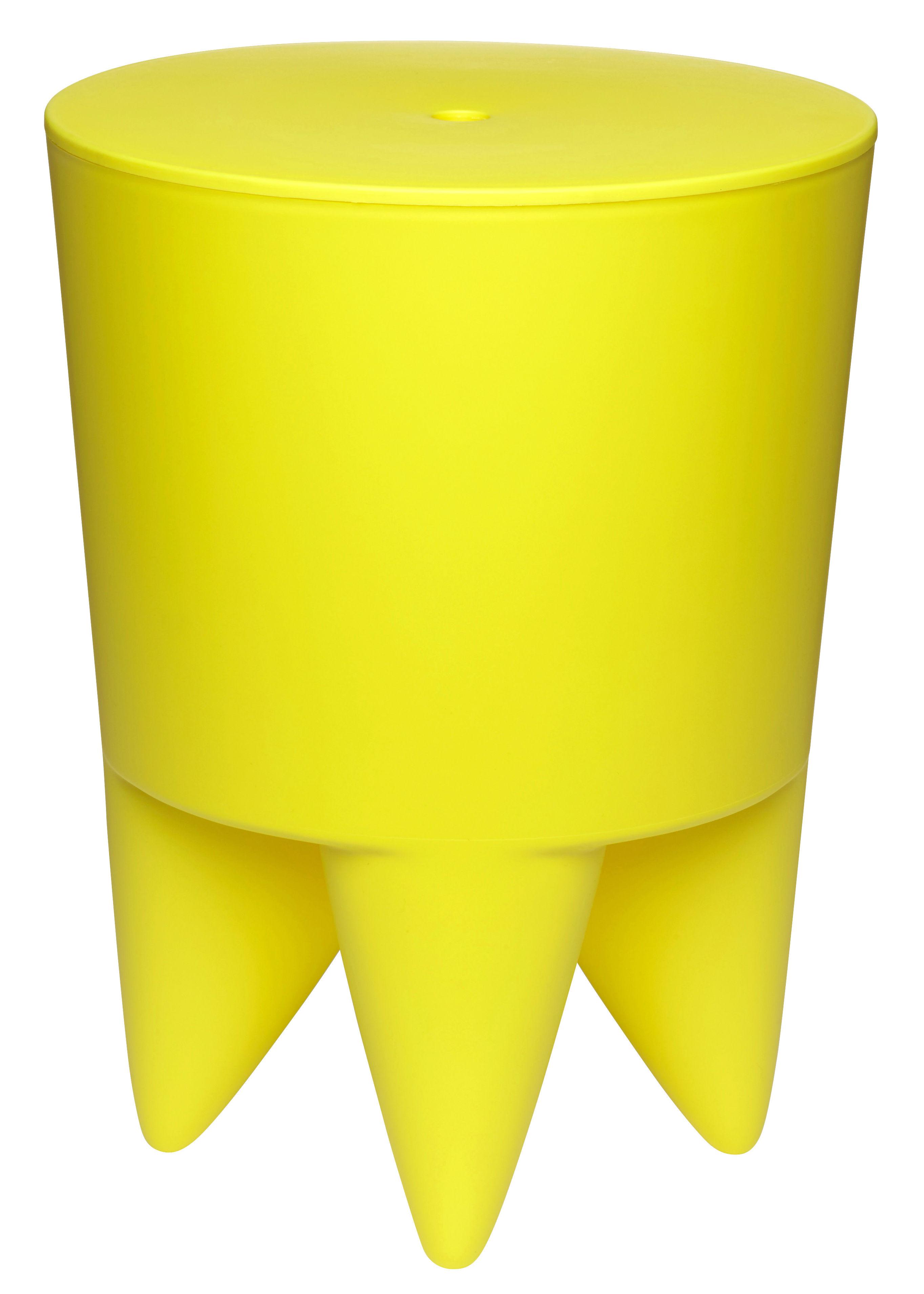 Arredamento - Sgabelli - Sgabello New Bubu 1er - Vano - Plastica di XO - Giallo vivo - Polipropilene